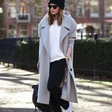 """Вдъхновени от улицата: Как се носи """"оувърсайз""""  палто?"""