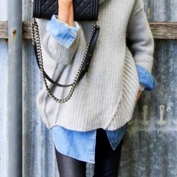 Вдъхновени от улицата: Как се носят тесни панталони и огромен пуловер?