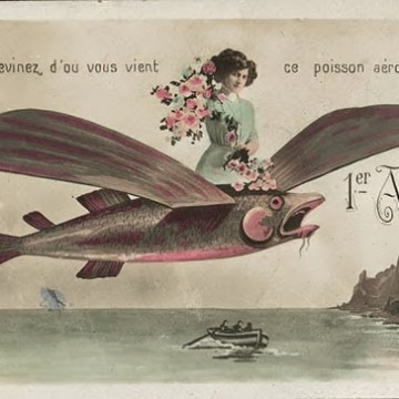 20 френски ретро картички за 1 април
