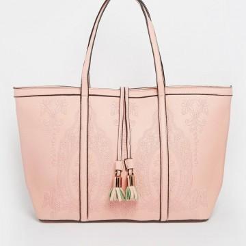 Красива чанта в пастелно розово