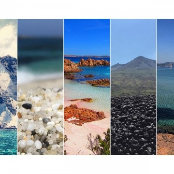 Пет италиански плажа в цветовете на дъгата
