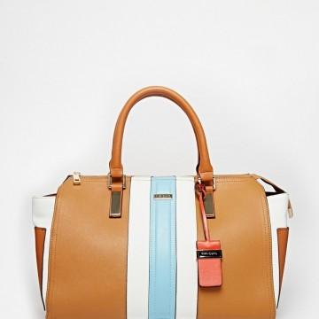 Чанта с цветни райета