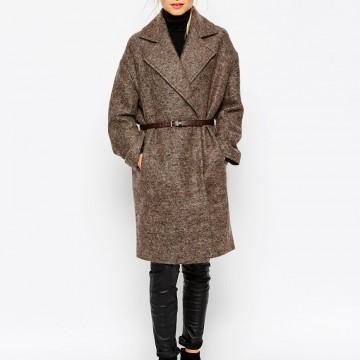 Зимно палто с колан