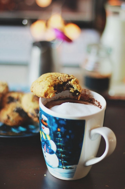 Любимите бисквитки с парченца шоколад