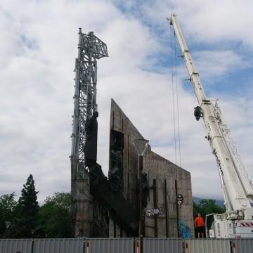 Въпрос пред разрушения паметник на НДК