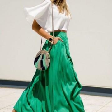 39 стайлинг идеи как да носите дълга пола през лятото