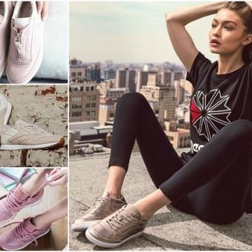 Reebok и тяхната блестяща колекция обувки, представена от супермодела Джиджи Хадид