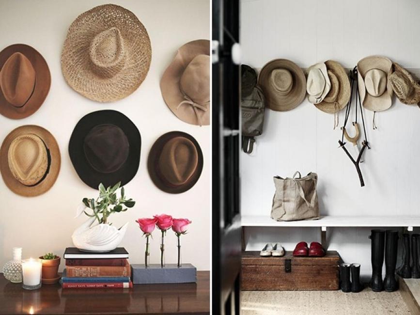 Вдъхновение за дома: шапки по стените