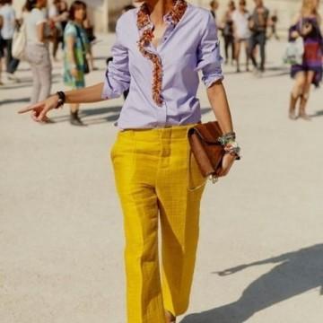 29 стайлинг идеи как да носите цветен панталон