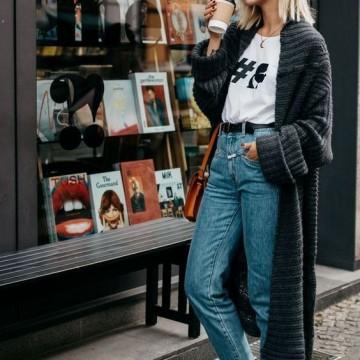 34 стайлинг идеи как да носите дълга жилетка