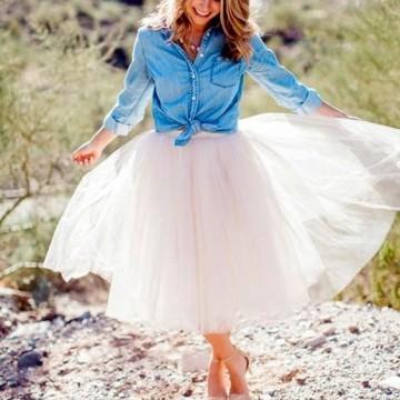 34 стайлинг идеи как да носите пола от тюл