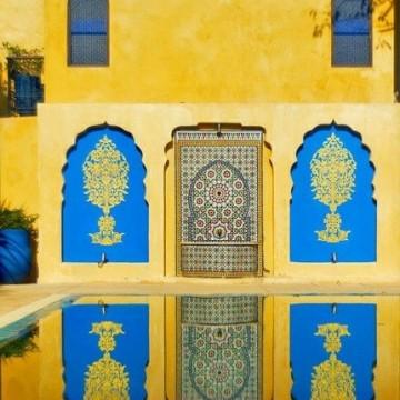 Цветовете на Мароко в една зимна вечер