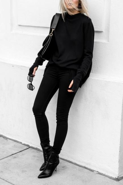 29 стайлинг идеи как да се облечем изцяло в черно и да останем забележими