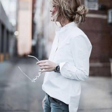 25 стайлинг идеи как да носите бяла риза