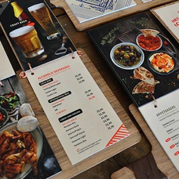 Пет вида ресторантски менюта