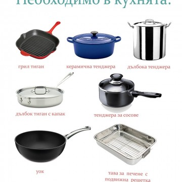От А до Ям: Необходимо в кухнята