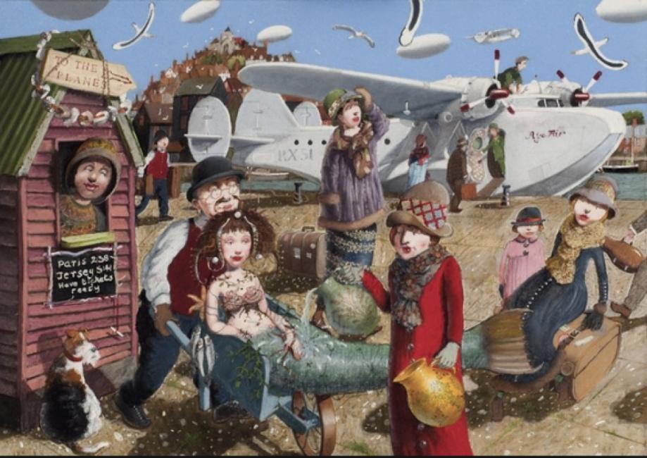 Картините на Ричард Адамс, пълни с колорит и британски хумор