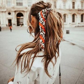 25 стайлинг идеи как да носите шал като аксесоар за коса