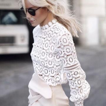 Как да се облечем изцяло в бяло: 24 стайлинг идеи