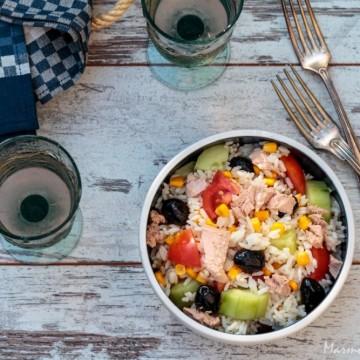 Вкусът на Франция: Салата с ориз и риба тон