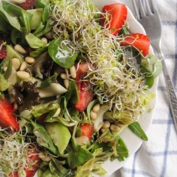 Вкусно по природа: Зелена салата с ягоди