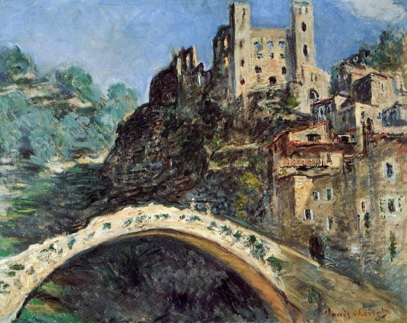 Клод Моне и градовете, в които той е рисувал
