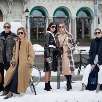 Със супермодерно палто и чанта през зимата: 36 стайлинг идеи