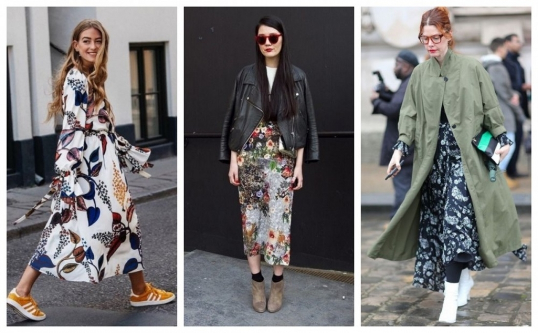 26 стайлинг идеи как да носите рокля на цветя през есента
