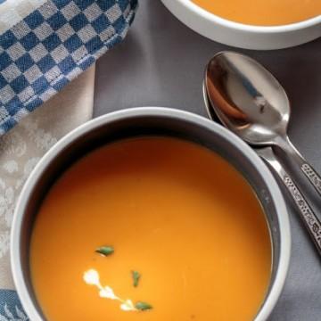 Тиквена крем супа с чай
