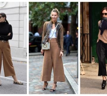Как да носим широк миди панталон: 28 стайлинг идеи