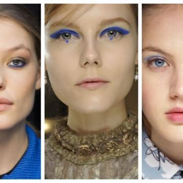 Грим тенденции: Синьото е... най-топлият цвят