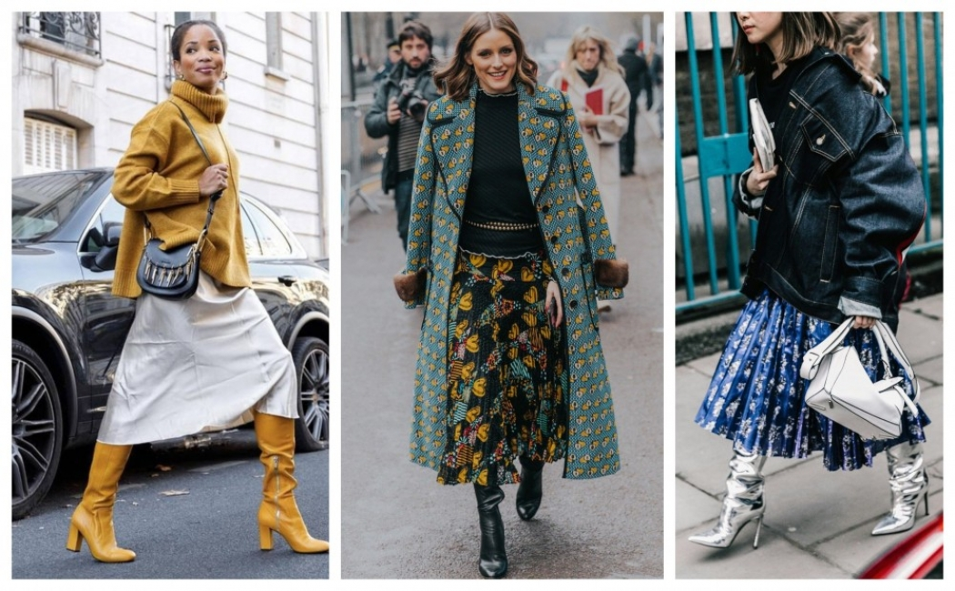 Напук на зимата: как да носим миди пола и ботуши (28 стайлинг идеи)