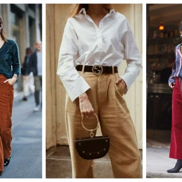 Как да носим панталон от рипсено кадифе: 31 стайлинг идеи