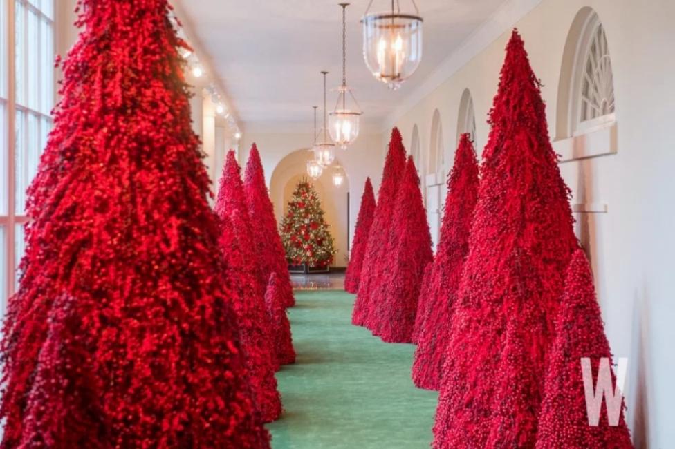 Коледната украса на Мелания Тръмп