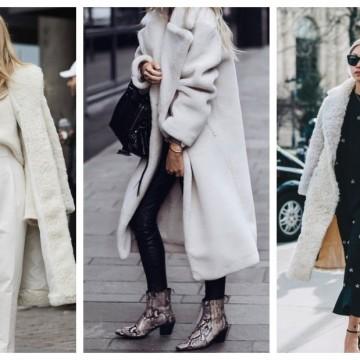 Бяла приказка с бяло палто: 21 стайлинг идеи