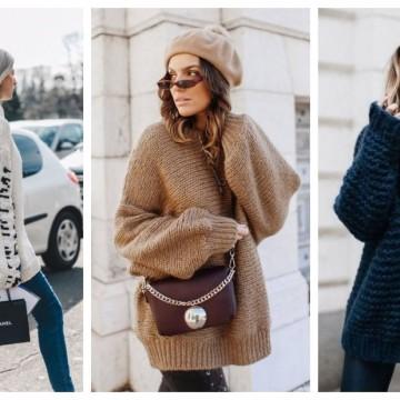 Пуловерите стават все по-обемни и по-топли: 31 стайлинг идеи