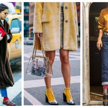 Цветен уикенд: 21 стайлинг идеи, в които акцент са чорапите