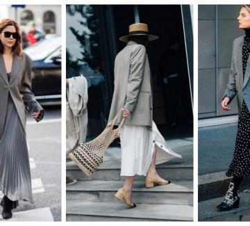 Как да носим блейзър с рокля: 21 стайлинг идеи