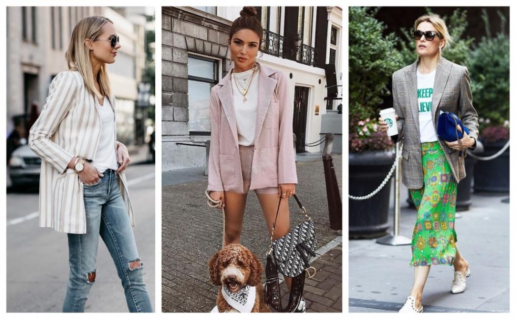 Как да носим сако с тишърт: 24 стайлинг идеи