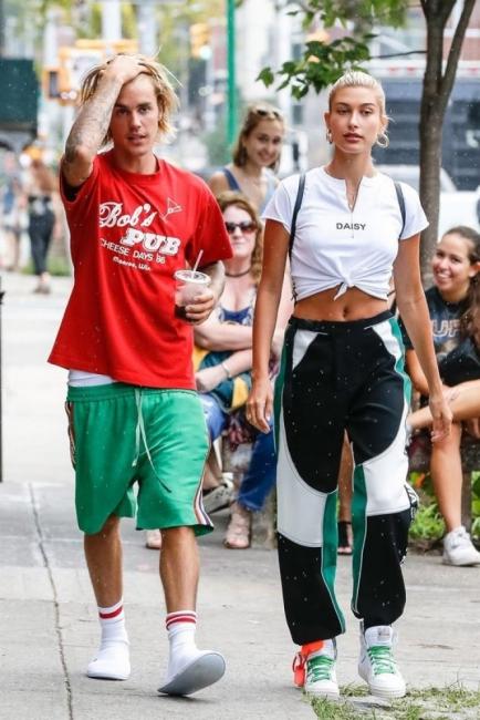 Хейли и Джъстин Бийбър: пълен синхрон в стила