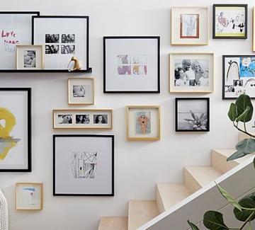 Как да подредим рамки на стена: 20 идеи