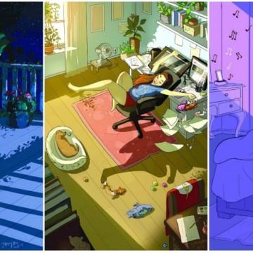 16 илюстрации, показващи хубавата страна на това да живееш сам