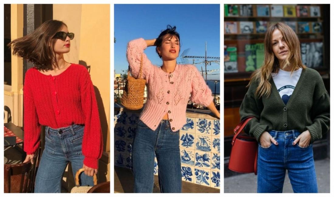 Като французойките: 21 стайлинг идеи как да комбинираме дънки и жилетка