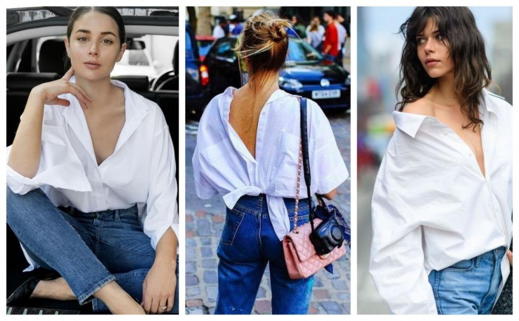 Любовта, без която не можем: 23 стайлинг идеи с бяла риза и дънки