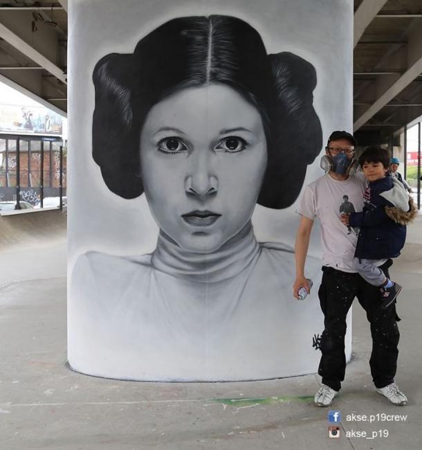42 street art портрета, припомнящи за иконите на поп културата