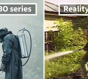 Чернобил: 20 снимки, сравняващи филма с реалността