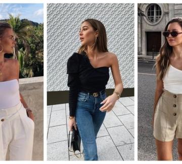 21 стайлинг идеи как да носим топ или блуза с едно рамо