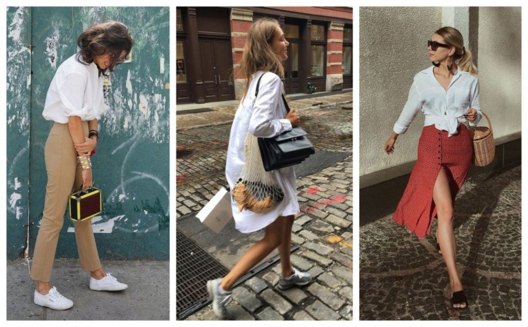 29 стайлинг идеи как да носим бяла риза през лятото