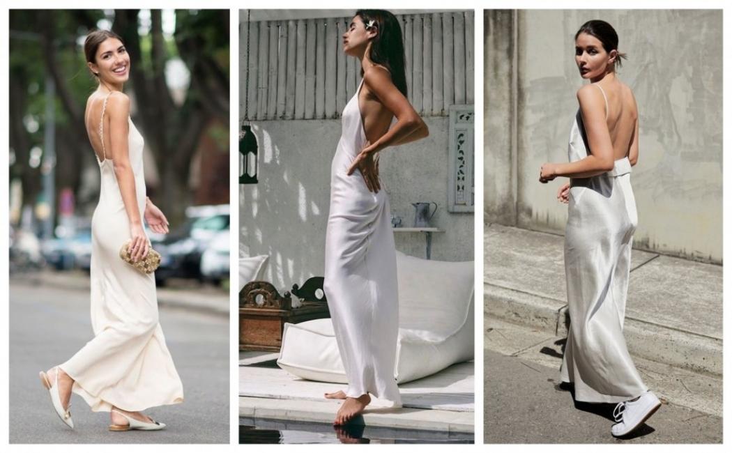 31 рокли от коприна и как да ги носим