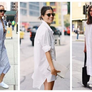 24 стайлинг идеи, в които ризата се превръща в рокля